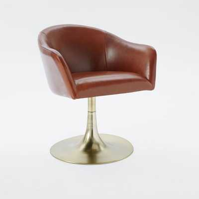 Bond Leather Swivel Office Chair - West Elm