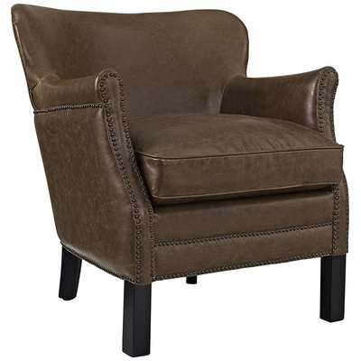 KEY ARMCHAIR IN BROWN - Modway Furniture