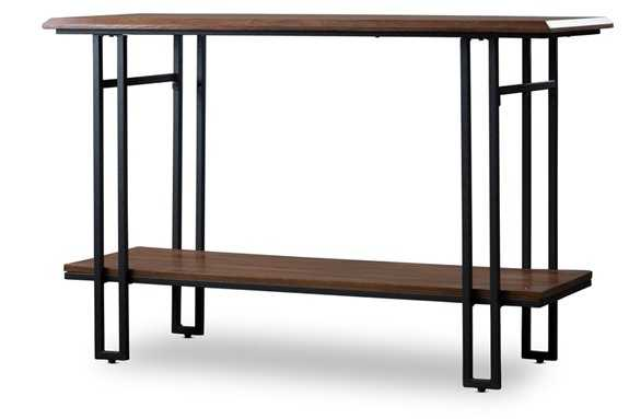 NEWCASTLE WOOD AND METAL CONSOLE TABLE - Lark Interiors