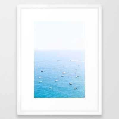AMALFI COAST SERIES - Vector White frame - Society6