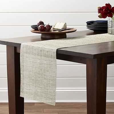 """Chilewich ® Crepe Neutral 72"""" Table Runner - Crate and Barrel"""