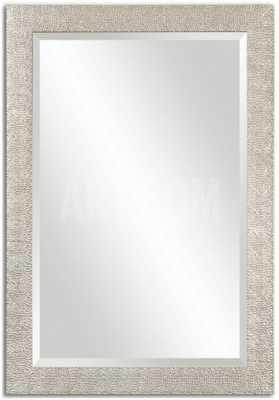 Porcius Antiqued Silver Mirror - art.com