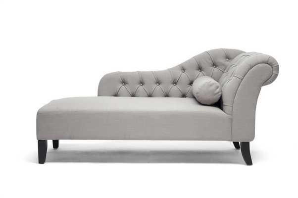 Baxton Studio Aphrodite Tufted Modern Chaise Lounge - Lark Interiors