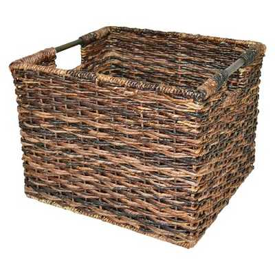 Wicker Large Milk Crate Dark Brown - Threshold™ - Target