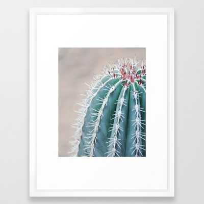 """Cactus - 20"""" x 26"""" - Vector White frame - With mat - Society6"""