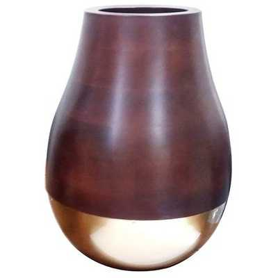 Gold and Wood Vase Large - Target