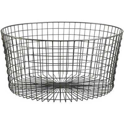 Gridlock large raw industrial basket - CB2
