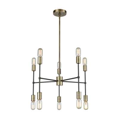 Up Down Century 10 Light Chandelier - Rosen Studio