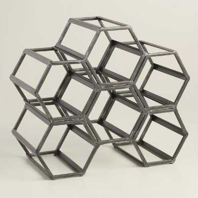 Black Hexagonal Wine Rack - World Market/Cost Plus