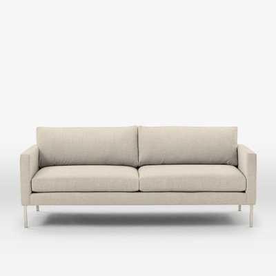 "High Line Upholstered Sofa - 82"", Pebble Weave, Oatmeal - West Elm"
