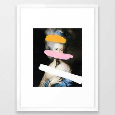 """Brutalized Gainsborough 2 - 20"""" x 26"""" - Vector White frame - With mat - Society6"""