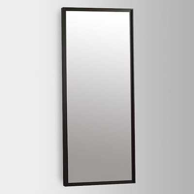 Floating Wood Floor Mirror - Chocolate - West Elm