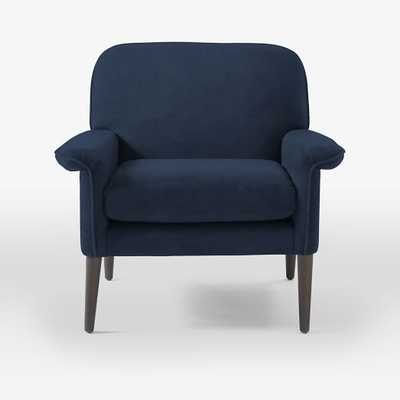 Anders Armchair - Performance Velvet, Ink Blue - West Elm