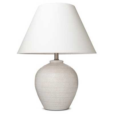 Carved Ceramic Table Lamp - Cream - Threshold™ - Target
