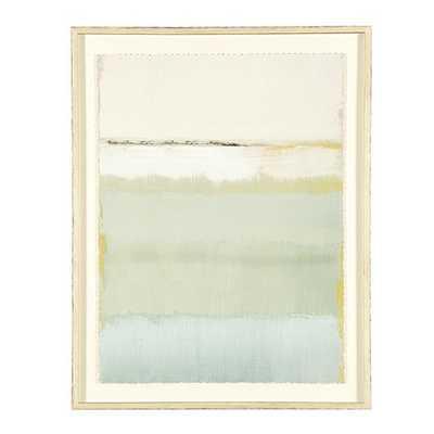 "Cote De La Mer Print II - 42"" x 31"" - Rubbed Cream Frame - With mat - Ballard Designs"