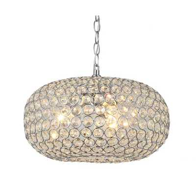 Francisca Oval-shaped Crystal and Chrome 3-light Chandelier - Overstock