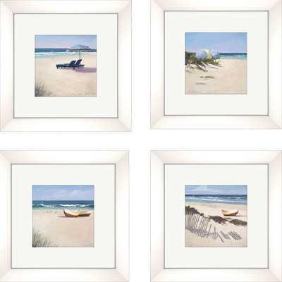 """Umbrella Framed Painting Print Set- 0.75"""" D - Framed (White) - Wayfair"""