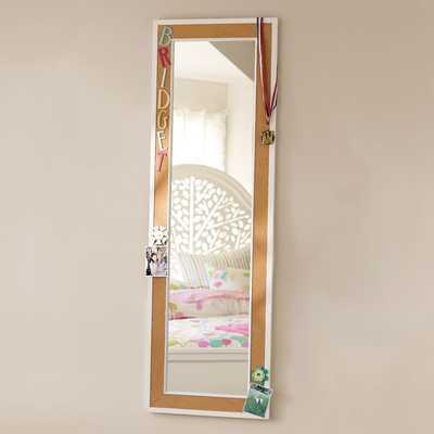Cork-Framed Mirror - White - Pottery Barn Teen