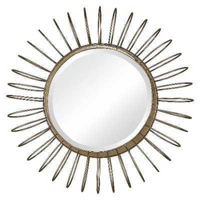 Lazy Susan 18.5 in. Gold Mirror with Wire Frame - Target