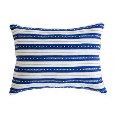 "La Laguna Pillow with Insert- 12"" L X 16"" W X 5"" H - Domino"