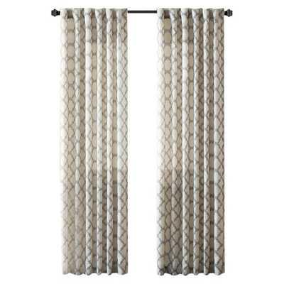 """Nakita Linen Single Curtain Panel - Taupe - 84"""" - Wayfair"""
