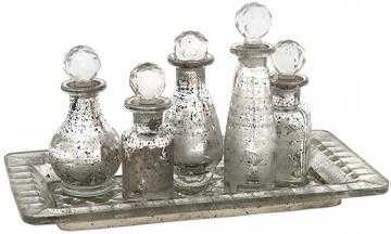 Macaire Mini Bottles with Tray Set - Home Decorators
