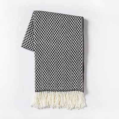 Warmest Arrow Jacquard Throw - West Elm