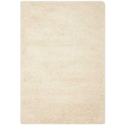 California Cozy Solid Ivory Shag Rug - 8' x 10' - Overstock