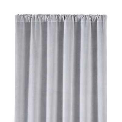 "Windsor 48"" x 108"" Light Grey Curtain Panel - Crate and Barrel"