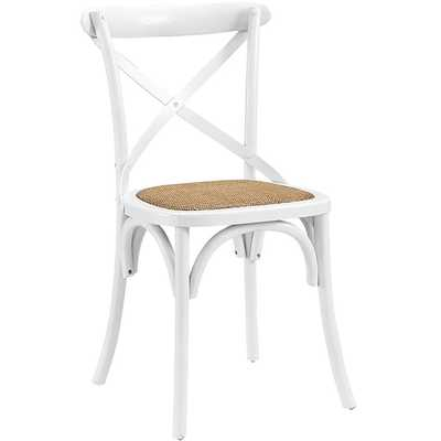 GEAR DINING SIDE CHAIR IN WHITE - Modway Furniture