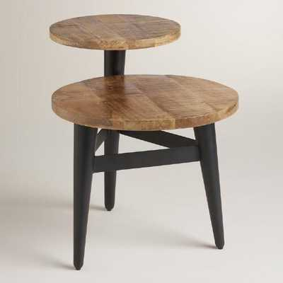 Wood and Metal Multi-Level Accent Table - World Market/Cost Plus