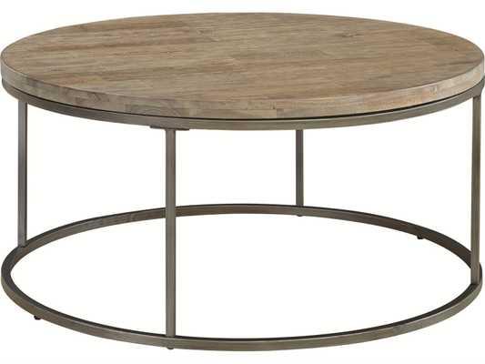 Casana Alana Weathered Acacia 38'' Round Coffee Table - Luxe Decor