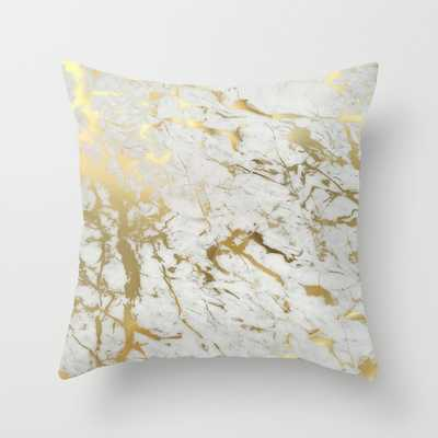 Gold marble - 16x16 - Down Insert-Indoor - Society6