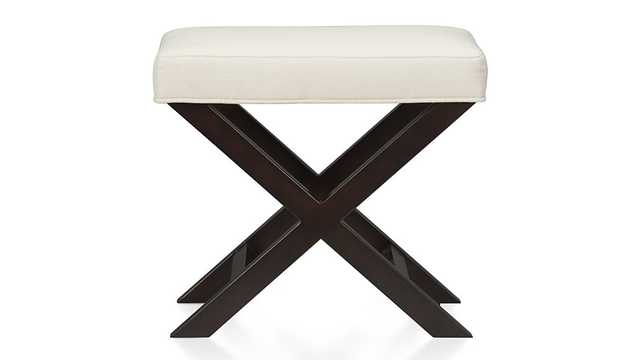X-Base Bench-Vanity Stool, Natural - Crate and Barrel