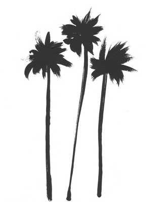 "Three Palms - 20"" x 24"" - White frame - No mat - Artfully Walls"