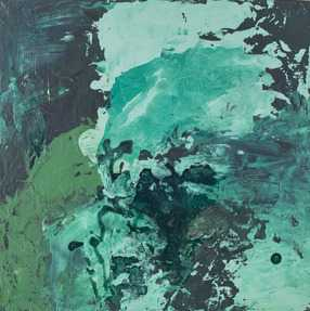 "Malachite- 14"" x 14""- Unframed - No mat - Artfully Walls"