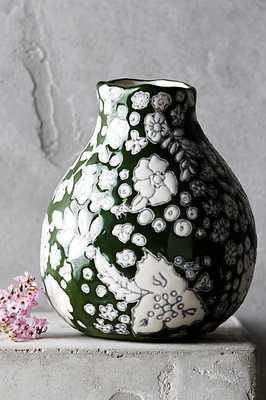 Windswell Vase - Evergreen, Medium - Anthropologie