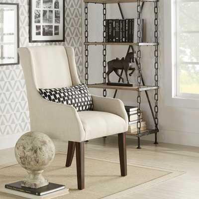 INSPIRE Q Jourdan Linen Sloped Arm Hostess Chair - Overstock