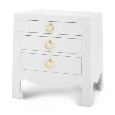 JACQUI 3-DRAWER SIDE TABLE, WHITE - Bungalow 5