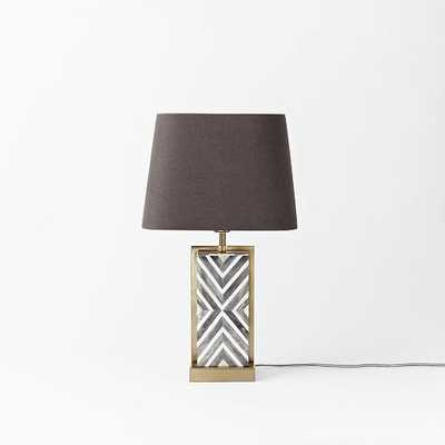 Chevron Deco Table Lamp - Small - West Elm