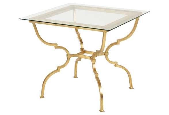 Bismark Glass Side Table, Gold - One Kings Lane