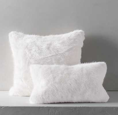 "ULTRA FAUX FUR PILLOW COVER - WHITE-22"" square-insert sold separately - RH"