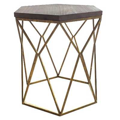 Chester End Table Gold Metal Hexagon - Target
