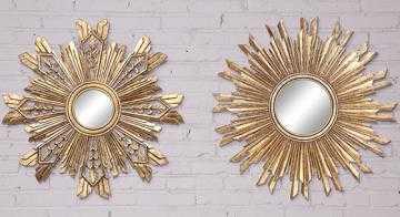 SUNBURST MIRRORS - SET OF 2 - Home Decorators