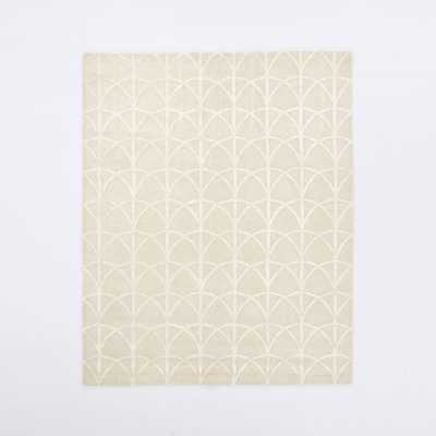 Scallop Wool Rug - 6' x 9' - West Elm