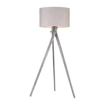Whistler 1 Light Floor Lamp In Black Ash - Rosen Studio