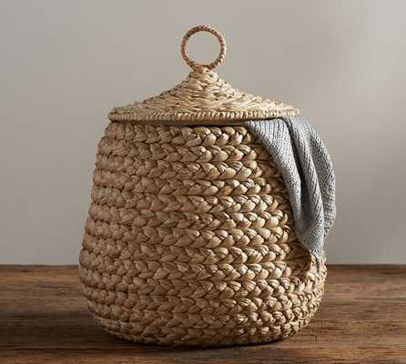 Beachcomber Lidded Tulip Basket - Pottery Barn