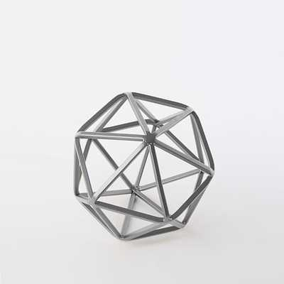 Symmetry Object - Silver - Small - West Elm