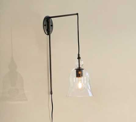 CFL Madison Glass Pendant Sconce - Set of 2 - Pottery Barn