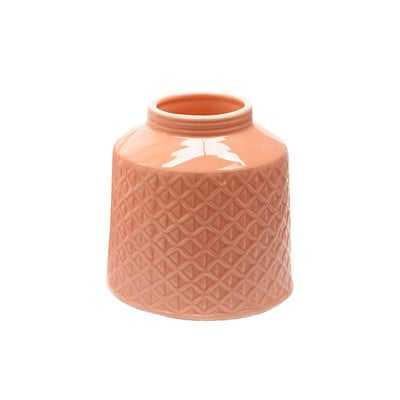 "Basic Luxury Porcelain 5"" H Vase - Peach - Wayfair"
